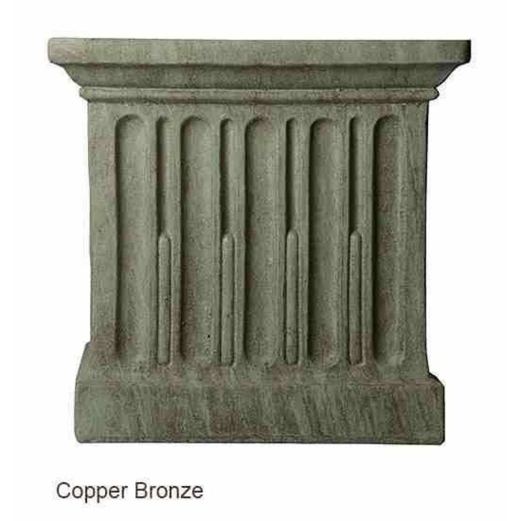 Campania International Estate Large Rolled Rim Planter - Copper Bronze - Cast Stone Planters