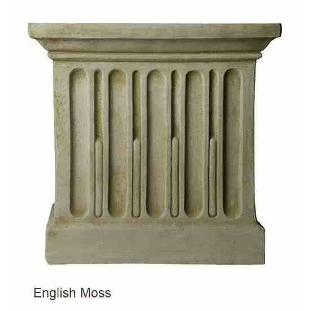 Campania International Estate Large Rolled Rim Planter - English Moss - Cast Stone Planters