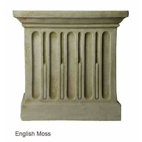 Image of Campania International Estate Large Rolled Rim Planter - English Moss - Cast Stone Planters