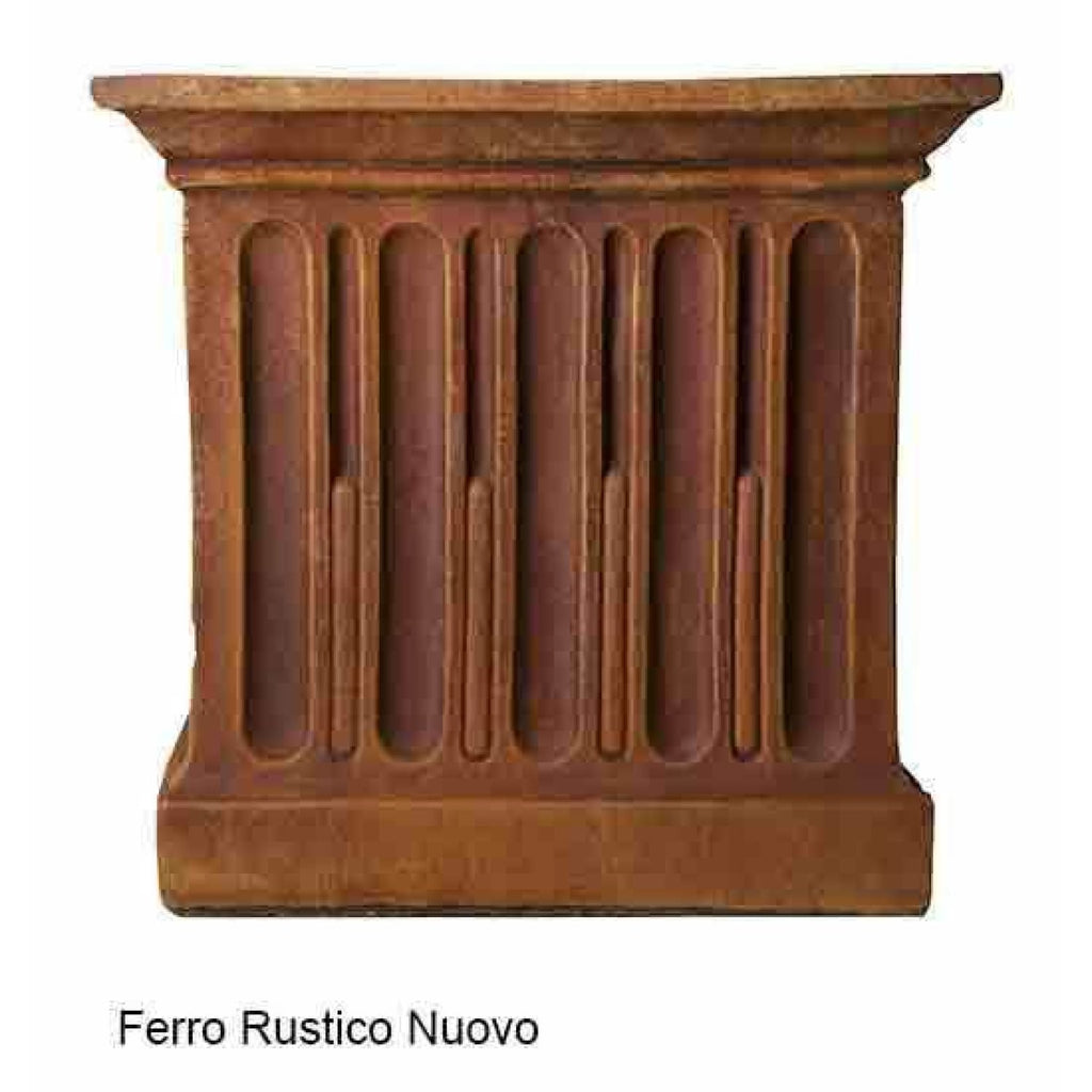 Campania International Estate Large Rolled Rim Planter - Ferro Rustico Nuovo - Cast Stone Planters