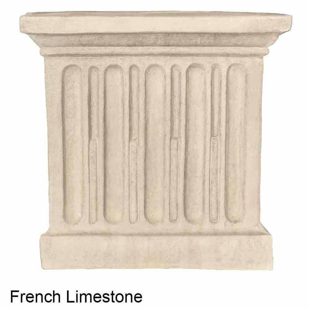 Campania International Estate Large Rolled Rim Planter - French Limestone - Cast Stone Planters