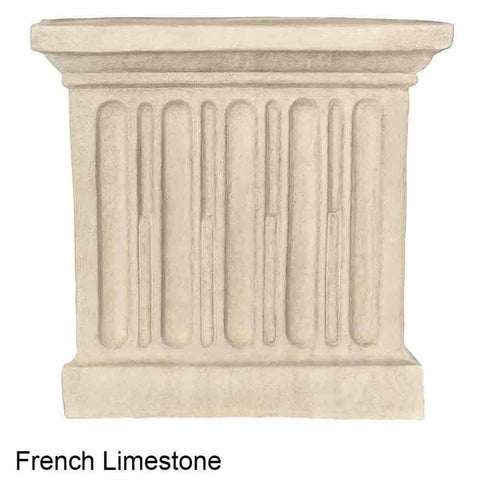 Image of Campania International Estate Large Rolled Rim Planter - French Limestone - Cast Stone Planters