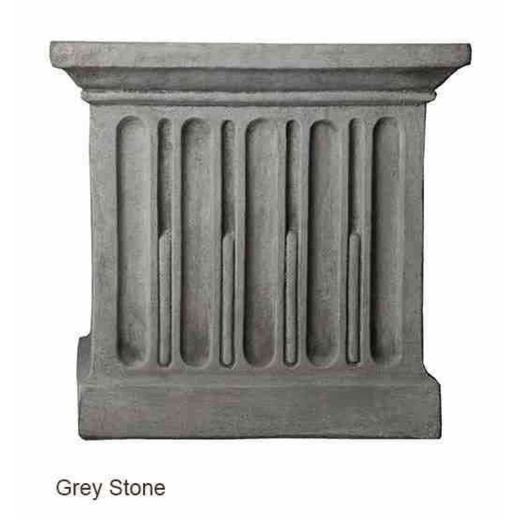 Campania International Estate Large Rolled Rim Planter - Grey Stone - Cast Stone Planters