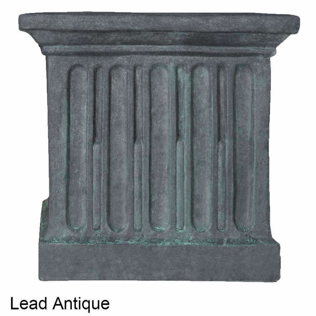 Campania International Estate Large Rolled Rim Planter - Lead Antique - Cast Stone Planters
