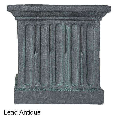 Image of Campania International Estate Large Rolled Rim Planter - Lead Antique - Cast Stone Planters