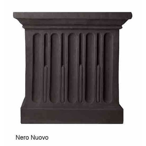 Campania International Estate Large Rolled Rim Planter - Nera Nuovo - Cast Stone Planters