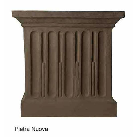Campania International Estate Large Rolled Rim Planter - Pietra Nuova - Cast Stone Planters