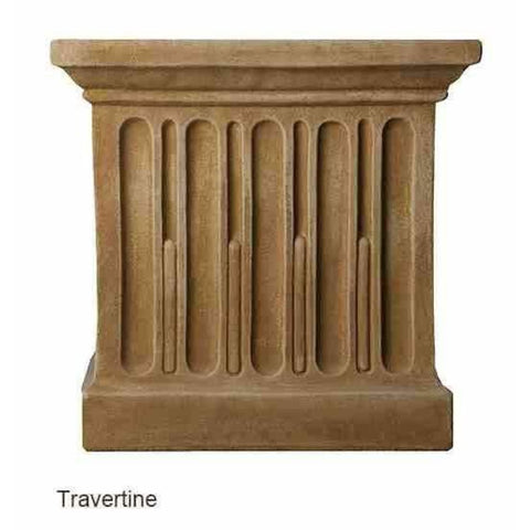 Campania International Estate Large Rolled Rim Planter - Travertine - Cast Stone Planters