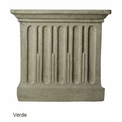 Campania International Estate Large Rolled Rim Planter - Verde - Cast Stone Planters