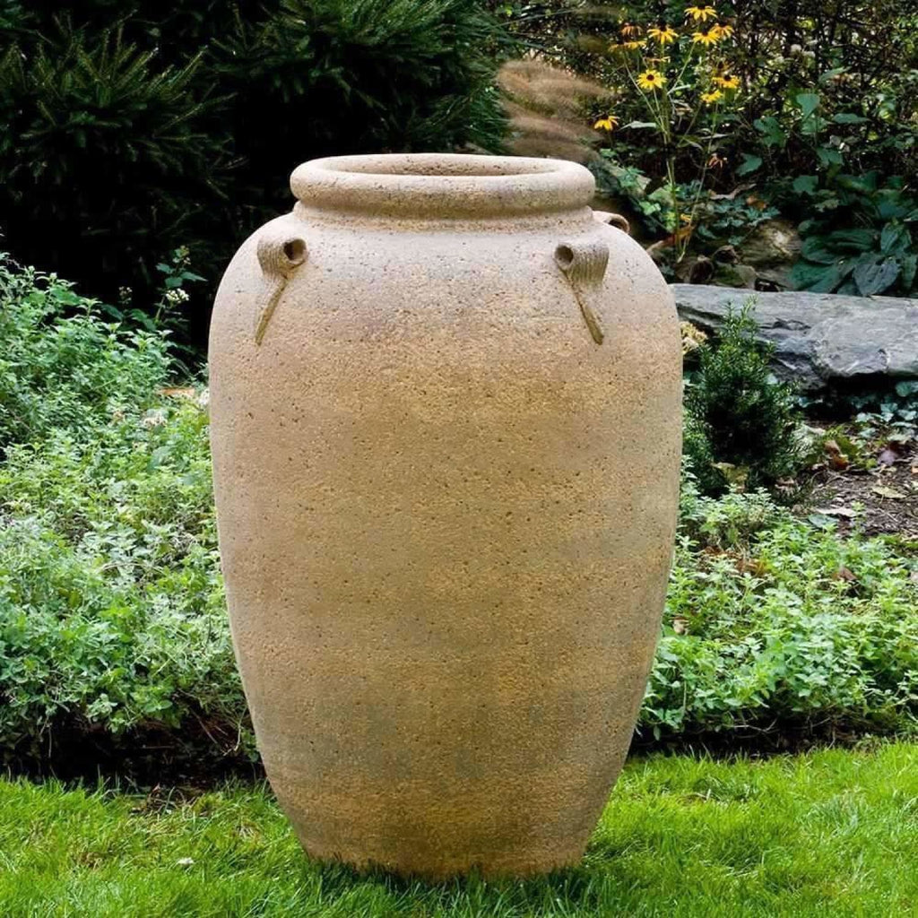 Campania International Four Handle Jar Sand Blasted - Sandblasted