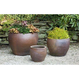 Campania International Kon Tum Planter Set of 3 - Ceramic Planters