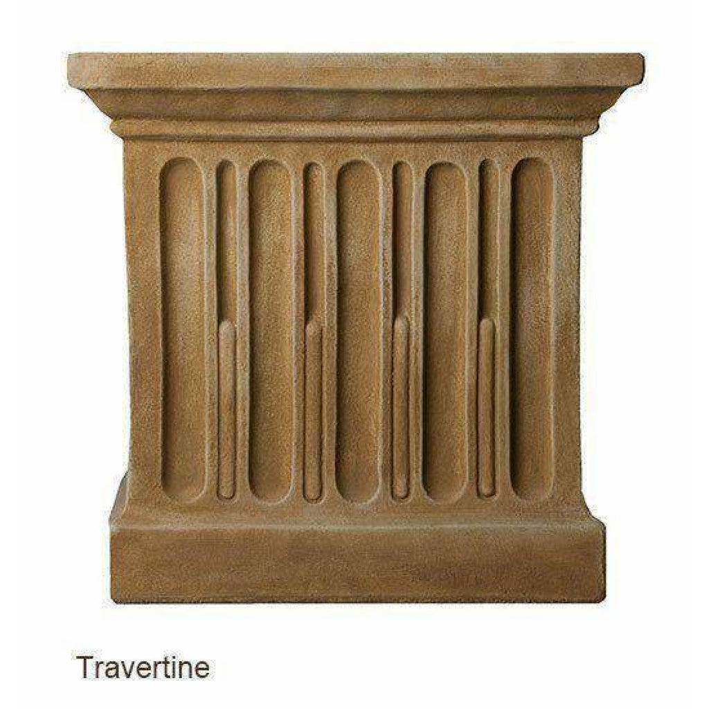 Campania International Long Beach Fountain - Travertine - Modern Fountains