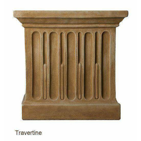 Image of Campania International Long Beach Fountain - Travertine - Modern Fountains