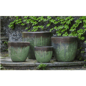 Campania International Marcel Planter Set of 4 in Bayou Bronze - Ceramic Planters
