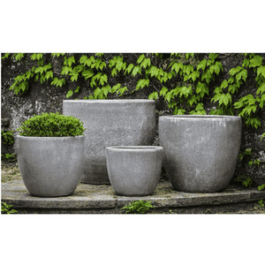 Campania International Marcel Planter Set of 4 in Snow Monkey - Ceramic Planters