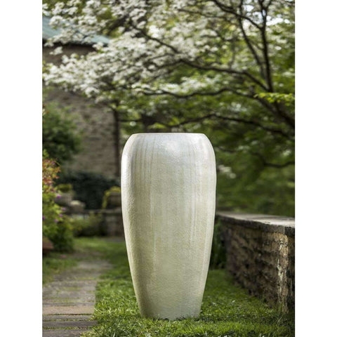 Image of Campania International Marisol Large Jar in Antique Pearl - Ceramic Planters
