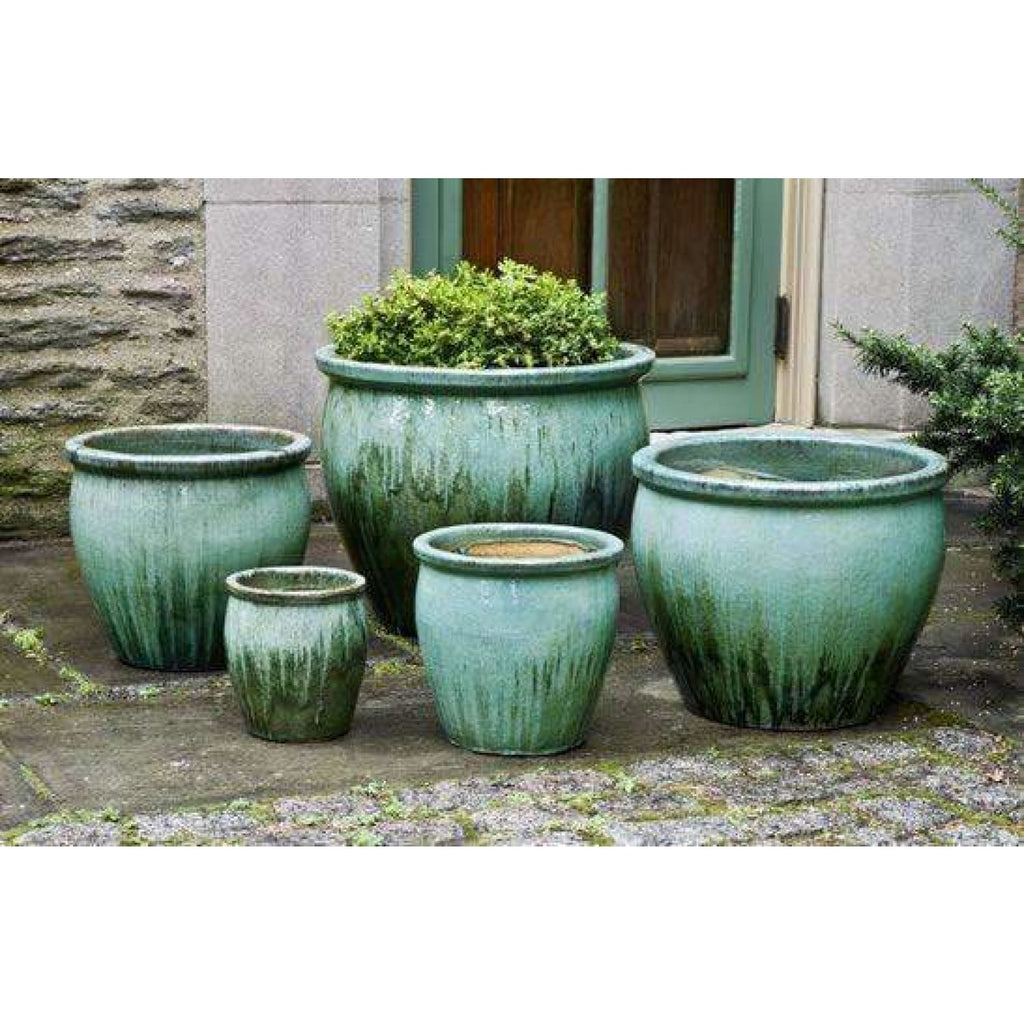 Campania International Mirador Planter Set of 5 in Falling Jade - Ceramic Planters