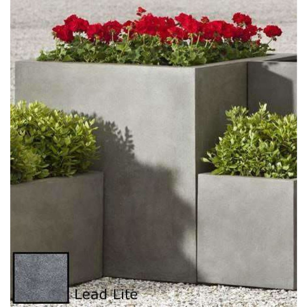 Campania International Modular Lite Planter 5 in Lead Lite - Modular Planters
