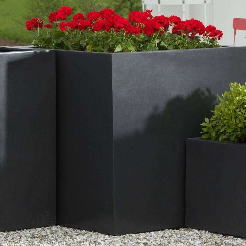 Campania International Modular Lite Planter 5 in Matte Black - Modular Planters