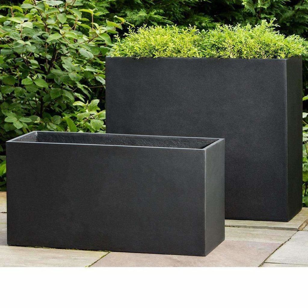 Campania International Modular Planter 7 in Onyx Black Lite - Modular Planters