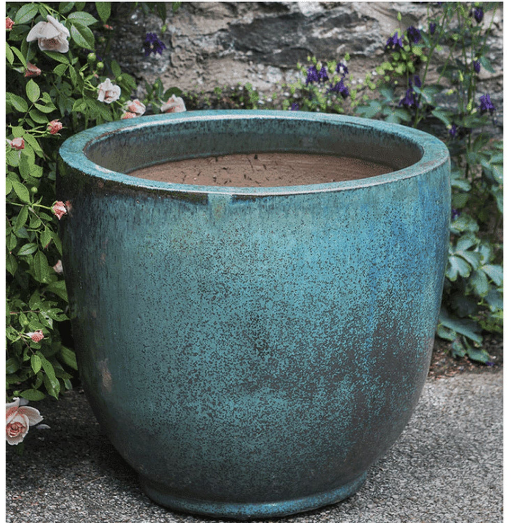 Campania International Sem Planter Set of 4 in Weathered Copper - Ceramic Planters
