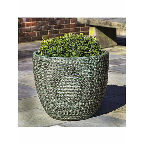 Image of Campania International Sisal Weave Planter Set of 3 - Seafoam Green - Ceramic Planters