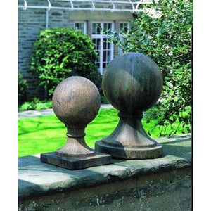 Campania International Small Sphere with Square Base - Cast Stone Finial
