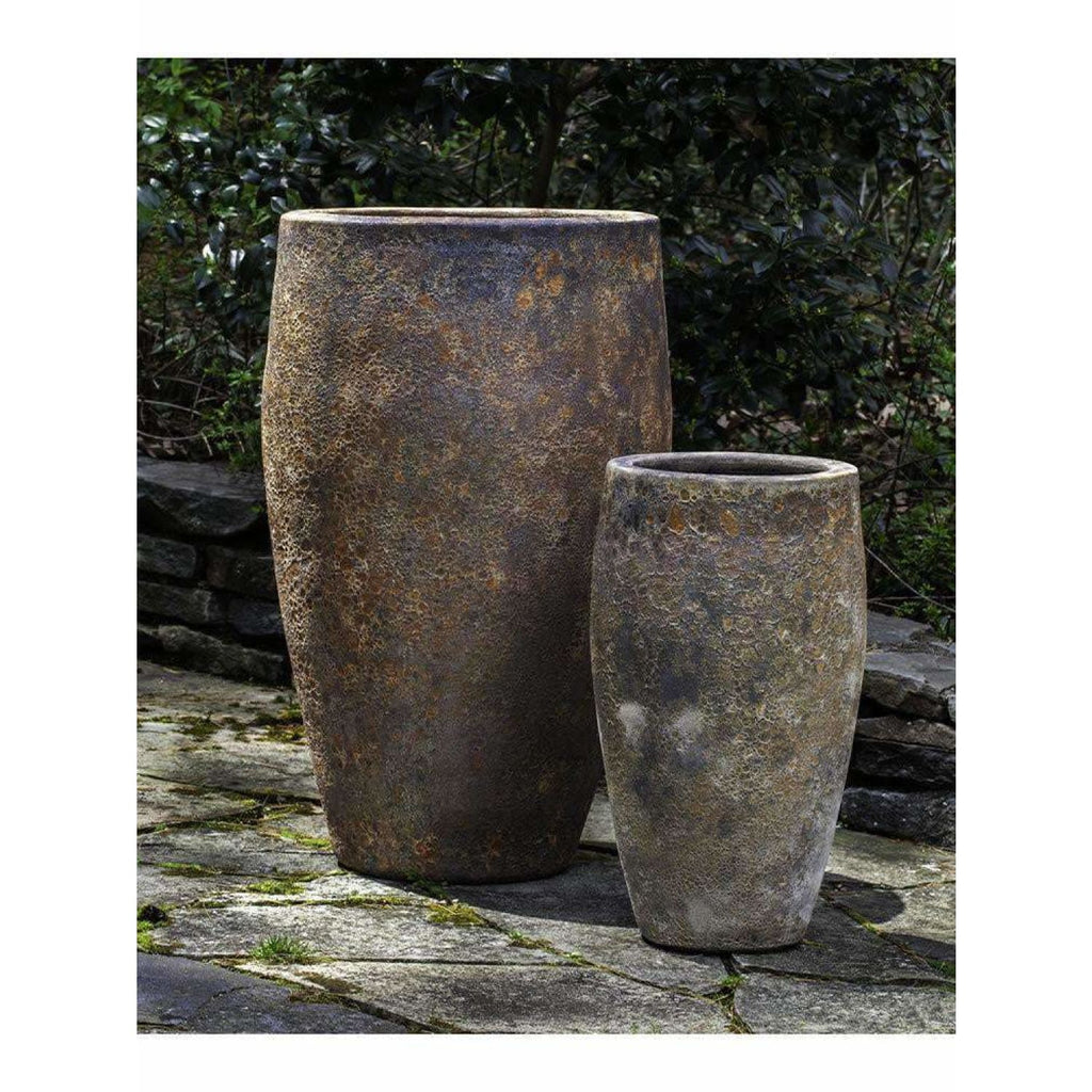 Campania International Ta Som Planter Set of Two in Angkor - Ceramic Planters