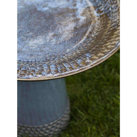 Image of Campania International Tattersall Birdbath - Decorative Bird Baths