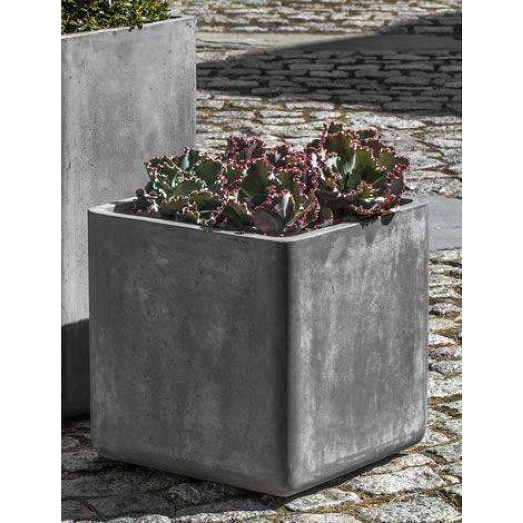 Campania International Urban Cube Planter - Fiberclay