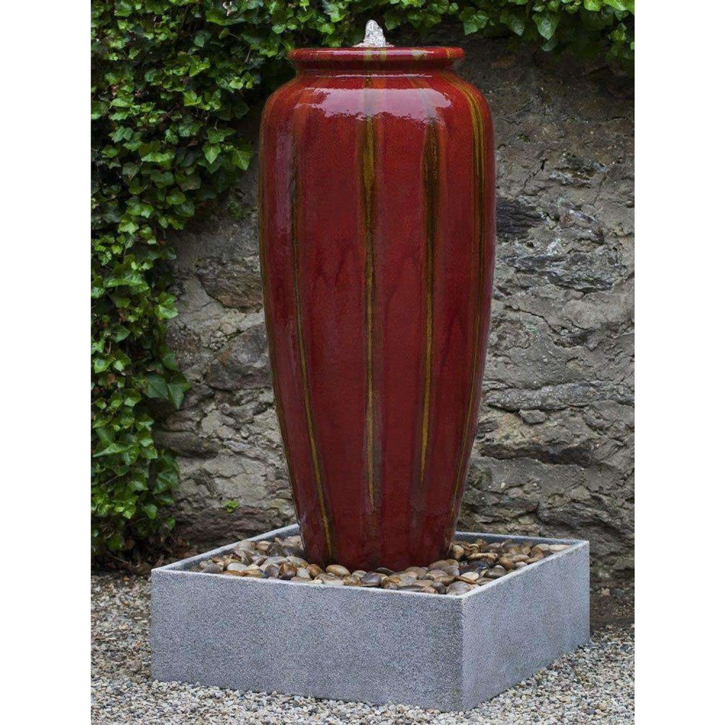 Campania International Vega Jar Fountain with Basin - Ceramic Fountains