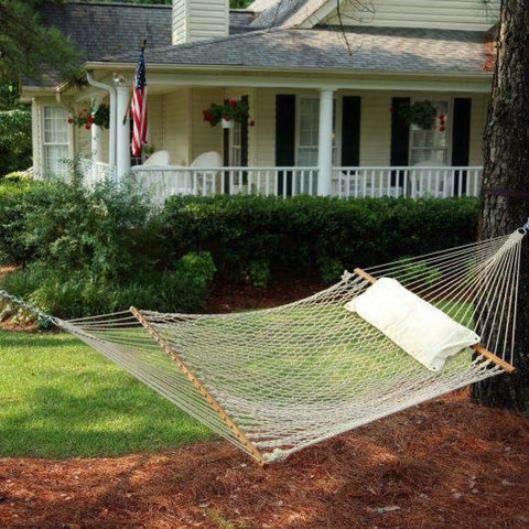 Pawleys Island Cotton Rope Hammock - Deluxe - Outdoor Hammocks