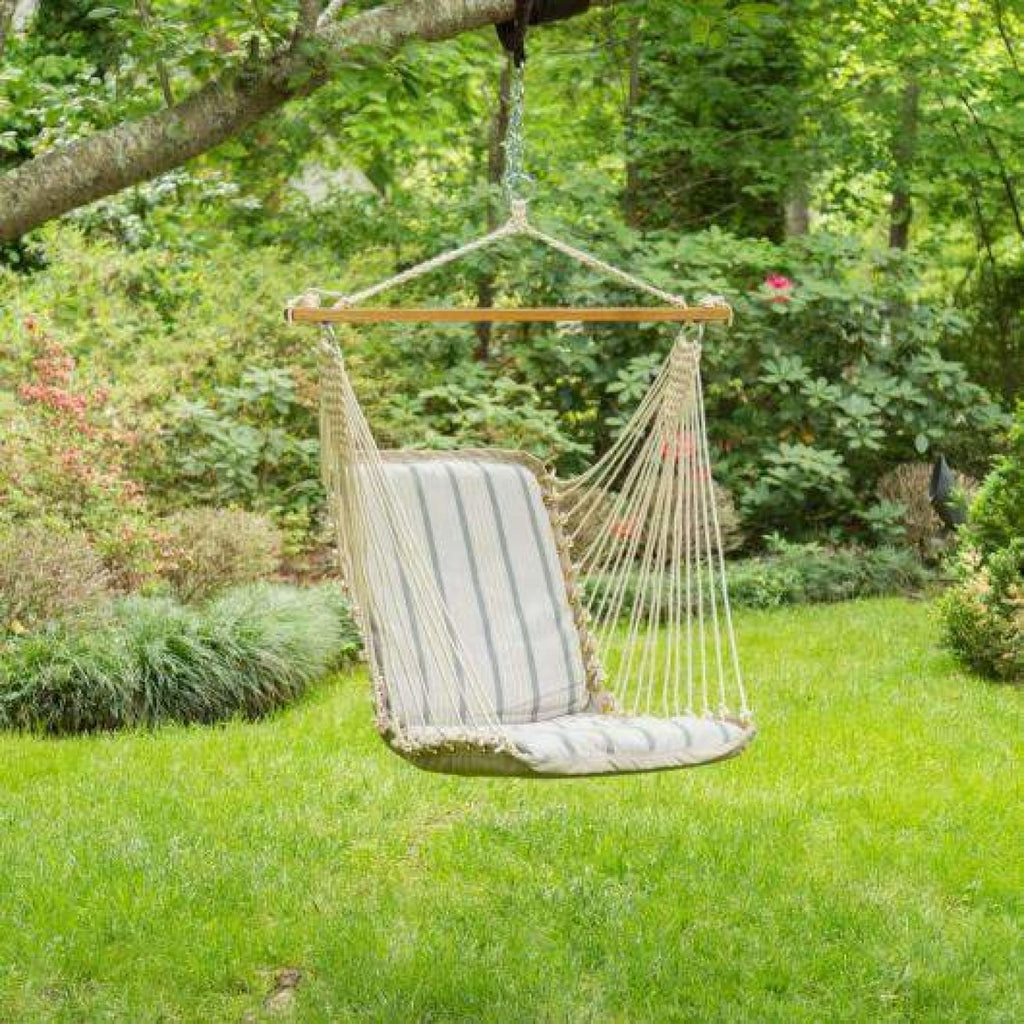 Pawleys Island Cushioned Single Swing - Cove Pebble - Outdoor Hammocks