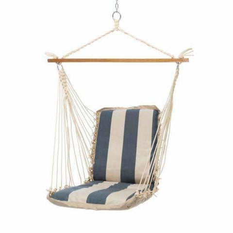 Pawleys Island Cushioned Single Swing - Regency Indigo - Outdoor Hammocks