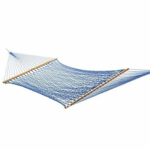 Pawleys Island DuraCord Rope Hammock - Large / Coastal Blue - Outdoor Hammocks