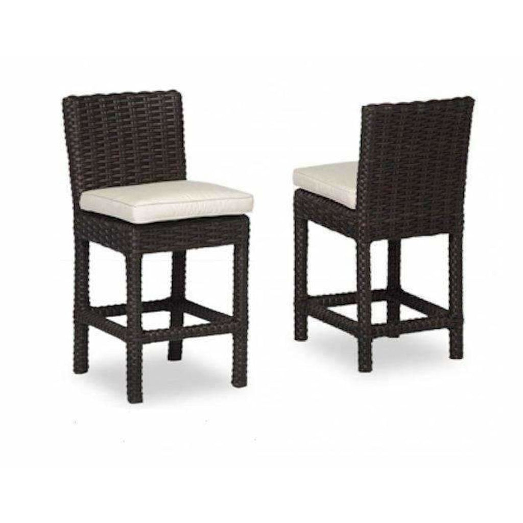 Sunset West Cardiff Outdoor Counter Stool with Cushion - Outdoor Dining Chair