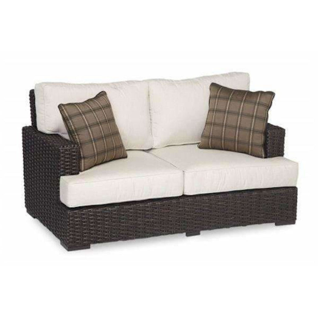 Sunset West Cardiff Outdoor Loveseat with Cushions - Outdoor Sofa