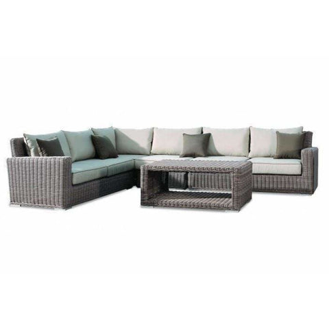Image of Sunset West Coronado Sectional Set with Club Chair - Outdoor Lounge Sets