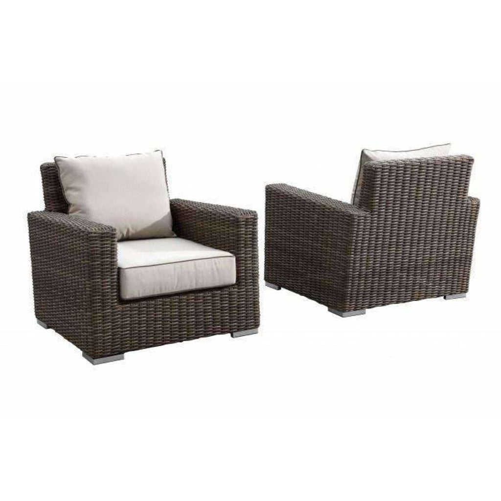 Sunset West Coronado Sectional Set with Club Chair - Outdoor Lounge Sets