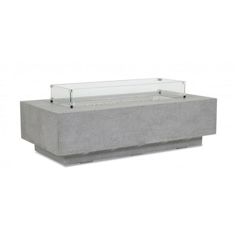 Sunset West Gravelstone Rectangular Fire Table - Outdoor Fireplaces