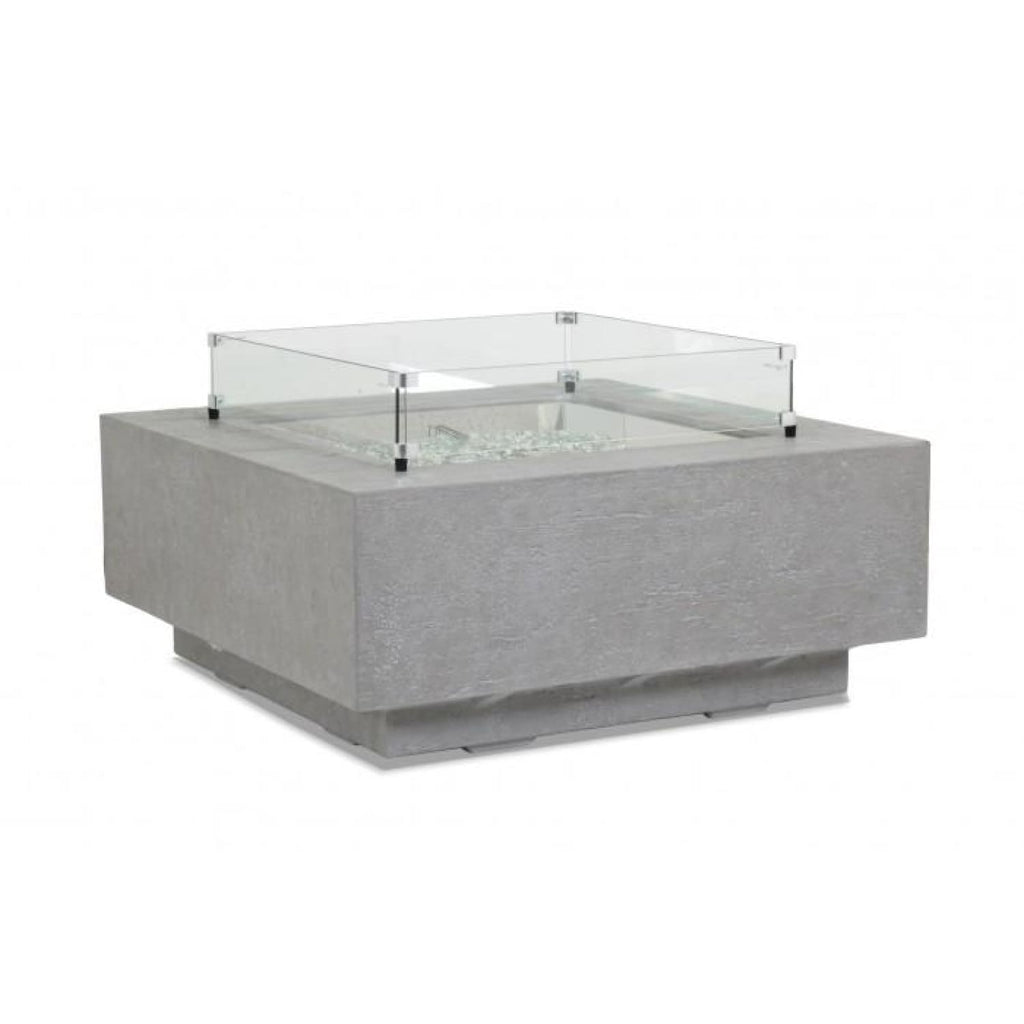 Sunset West Gravelstone Square Fire Table - Outdoor Fireplaces