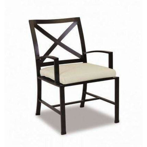 Image of Sunset West La Jolla Outdoor Dining Chair with Cushion - Outdoor Dining Chair