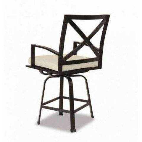 Image of Sunset West La Jolla Outdoor Swivel Barstool with Cushion - Outdoor Dining Chair