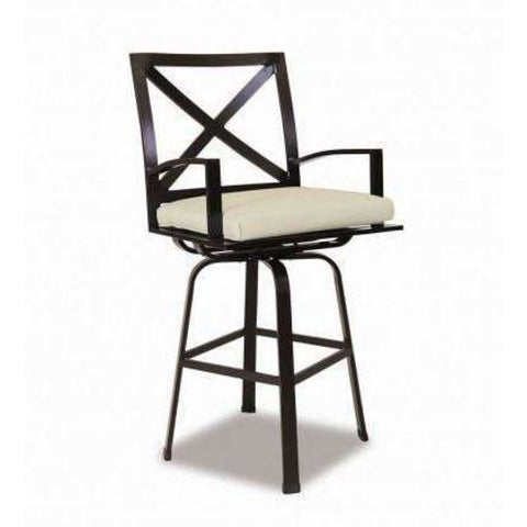 Sunset West La Jolla Outdoor Swivel Counter Stool with Cushion - Outdoor Dining Chair