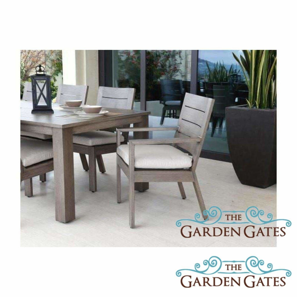 Sunset West Laguna 90-inch Aluminum Outdoor Dining Table - Outdoor Tables