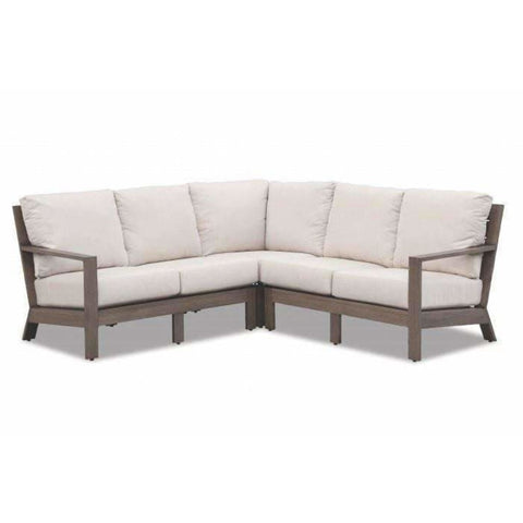 Sunset West Laguna Outdoor Sectional Sofa with Cushions - Outdoor Sofa