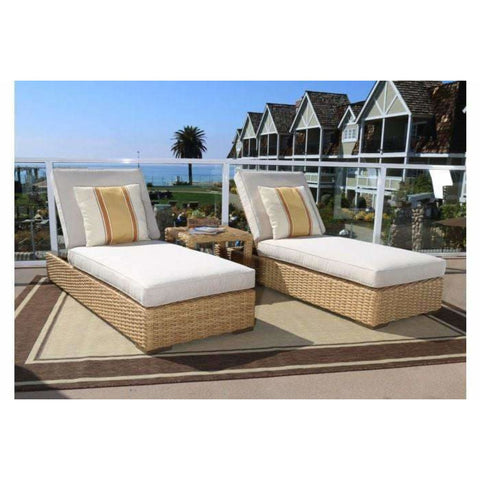 Sunset West Leucadia Adjustable Outdoor Chaise Lounge Set - Chaise Lounge Chair