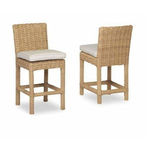Sunset West Leucadia Counter Stool with Cushion - Outdoor Dining Chair