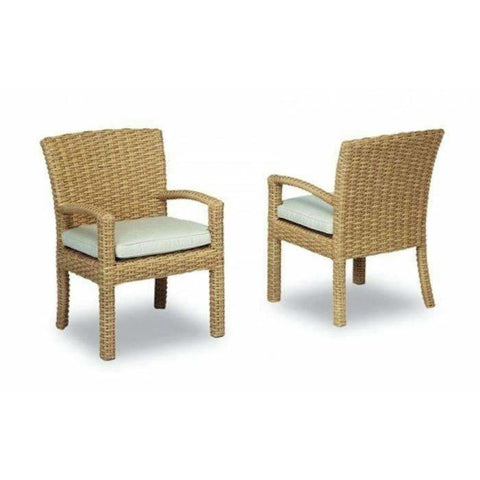 Image of Sunset West Leucadia Dining Chair with Cushion - Outdoor Dining Chair