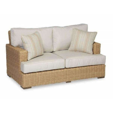 Sunset West Leucadia Loveseat with Cushions - Outdoor Sofa
